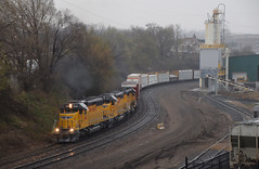 Union Pacific 40s (wc_sd45_7500) Tags: sd40n sd40 union pacific jackson st emd midway sub yspmp transfer rain train trains railroad