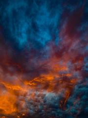 The Sun Does Not Want to Say Goodnight (Steve Taylor (Photography)) Tags: goodnight sun blue orange mauve newzealand nz southisland canterbury christchurch northnewbrighton cloud sky sunset sundown fireinthesky