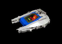 LL1302 starfighter (timhenderson73) Tags: lego custom moc neo classic space starfighter star wars millenium falcon