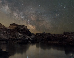 Wait for the morning to her .. (JackTorva) Tags: milkyway vialattea astronomy astronomia space spazio night notte colors nature natura ngc mare sea samyang 14mm canon 400d astrometrydotnet:id=nova2016105 astrometrydotnet:status=solved