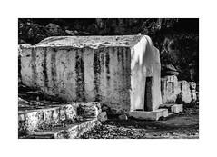 IMA_9698SEb The Little Church (foxxyg2) Tags: churches chapels monasteries religion orthodox greekorthodox history abandoned derelict naxos cyclades greece greekislands islandhopping islandlife mono monochrome bw blackwhite silverefects niksoftware