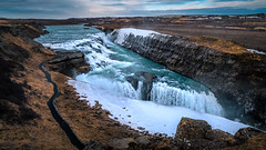 Gullfoss waterfall - Iceland - Travel photography (Giuseppe Milo (www.pixael.com)) Tags: iceland landscape waterfall travel nature water rocks outdoor snow hill gulfoss ice southernregion is onsale
