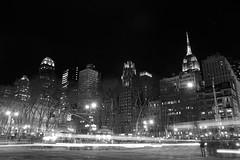 Bryant Park at Night (airspex) Tags: nyc newyork new york city newyorkcity usa manhatten blackwhite night nightlights nycatnight empire state building empirestatebuilding bryant park bryantpark