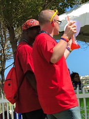 Red & Yellow series (LarryJay99 ) Tags: dude picketfence bryantpark urban backpack happyfencefriday dudes fhairyarms guys rainbow profile people festival urbanbackpacker hunks expressions candid fencefriday mixedcouple man tshirts gaycouple too festivals gaypridefestival streets glasses beads armbands human parks railfence men lakeworth handsome male guy unaware attractive photostream reds unsuspecting bluesky iphone7plusbackdualcamera66mmf28