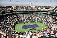 stadium (Purple Cow Pictures) Tags: tennis indianwells tournament desert palmsprings swiss switzerland rogerfederer stanwrawrinka martinahingis sport photography fun moetchandon moment