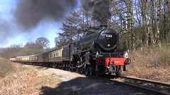 LMS Black Five No.45212 southbound at Green End [NYMR] on 25th March 2017 (soberhill) Tags: nymr northyorkshiremoorsrailway 2017 railway train steam locomotive greenend lms blackfive black5 45212