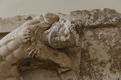"Delphi, The Athenians' Treasury Metopes – Herakles Cycle, 10 (egisto.sani) Tags: metopes metope herakles heracles eracle ""hind ceryneia"" ""cerva di cerinea"" ""archaic period"" arcaico periodo art arte arcaica period treasury tesoro ""athenians treasury"" ""tesoro degli ateniesi"" phocis focide delphi delfi ""archaeological museum"" ""museo archeologico"""