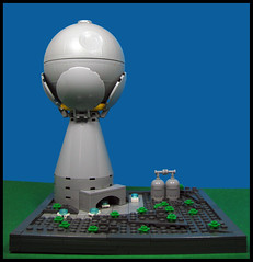 Space Defense Tower (Karf Oohlu) Tags: lego moc microscale vignette defensegun spacedefensegun guntower