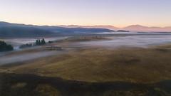 Foggy Morning (Rein Domingo) Tags: dji phantom4pro up sunrise fog nz drone tekapo