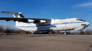 Ilyushin IL.76MD c/n 0033446341 registration CCCP-76560 stored and abandoned at an old Soviet airbase at Krivyi Rih, Ukraine