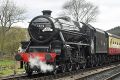 LMS Black Five No.45212 at Levisham [NYMR] on 2nd April 2017 (soberhill) Tags: nymr northyorkshiremoorsrailway 2017 railway train steam locomotive levisham lms blackfive black5 45212