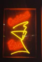Cocktail Bar (goodfella2459) Tags: nikon f4 af nikkor 50mm f14d lens cinestill 800t 35mm c41 film cocktail bar sign pub sydney night city colour lights milf