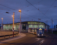 Blackpool Tram Shed (keithjheyworth) Tags: blackpool tram transport rails promenade shed depot south shore golden hour