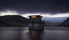 As darkness fell (Katherine Fotheringham) Tags: loch turret dam darkeness night resevoir water clouds
