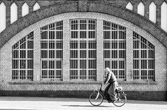 Bikelin (TablinumCarlson) Tags: street streetphotography man mann europa deutschland germany berlin leica m m240 90mm summicron fahrrad bike fahrradfahrer cycle sw fassade bahnhof station schlesischestor cyclist bw kreuzberg friedrichshainkreuzberg