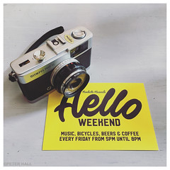 Hello (peterphotographic) Tags: photo16042017113803edwm hello iphone apple 6s instagram square olympus trip 35mm analog camera cameraporn barbican plymouth westcountry devon england uk britain rocketsandrascals