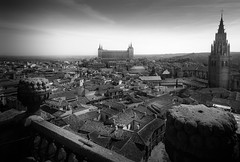 Toledo (Edward Toledo) Tags: view toleo spain omd olympus 918mm travel alcazar city ciudad above light black white blanco y negro micro four thirds landscape iglesia ildefonso jesuitas