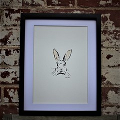 Big Ears (papagprints) Tags: rabbit bunny animal wildlife nature ears whiskers art artist painting giclee