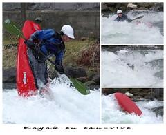 Prouesses en eaux-vives!  / Having fun in high river current! (Pentax_clic) Tags: kayak valleyfield pentax kr imgp0022 marcantoine davignon robert warren eauxvive avril 2017