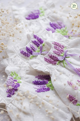 Embroidery Lavender Dress (Ylang Garden) Tags: lati yellow pukifee embroidery wingdress flowers