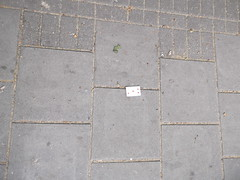 24th April 2017 (themostinept) Tags: 5ofdiamonds playingcard card pavement london ground floor islington n1 kingscross westonrise