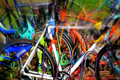 10/52 Bright for 52 in 2017 Challenge (Bella Lisa) Tags: bikes abstract bright 52in2017challenge slidersunday
