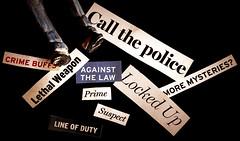Crime (PrunellaCara) Tags: print crime macro closeup retro stilllife macromondayscrime