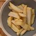 Pre-baked, deep-frozen fries.