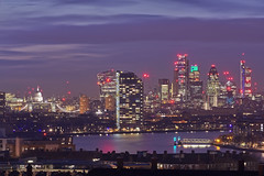 Curva / Bend (City of London from Greenwich, London, United Kingdom) (AndreaPucci) Tags: thames london greenwich uk night towerbridge stpaulscathedral cityoflondon andreapucci canoneos60