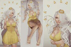Gold ♫ (Selena Paine) Tags: secondlife catwa egozy prtty blogger blog fashionblog mosquitos riot fantasy