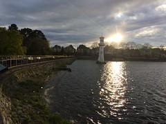 Rose park lake Cardiff (shge64) Tags: uk walse water lake cardiff sunset