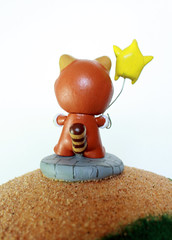 Mario Galaxy Munny FINAL (sillysyd) Tags: world game art star video geek nintendo wip super mario galaxy raccoon custom mega munny munth