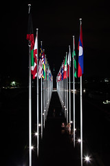 canberra-8103 (yukkycakes) Tags: dark australia flags nighttime canberra act flagpoles australiancapitalterritory commonwealthplace internationalflags