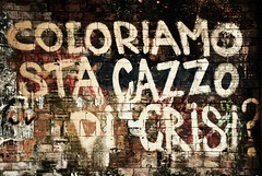 (TRUDI.) Tags: abandoned colors graffiti ruins decay slogan colori crisis rovine crisi abbandono consonno decadimento olginate