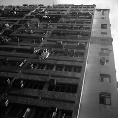 (David Davidoff) Tags: city urban 120 6x6 tlr film square blackwhite tmax medium oldbuilding skopar 75mmf35 voigtlandersuperb jordanhongkong