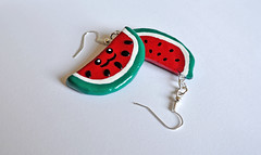 Watermelon Earrings (JosieMM1013) Tags: cute forsale handmade crafts jewellery polymerclay kawaii earrings etsy seller quirky polymer etsyshop cuteandquirkygirl