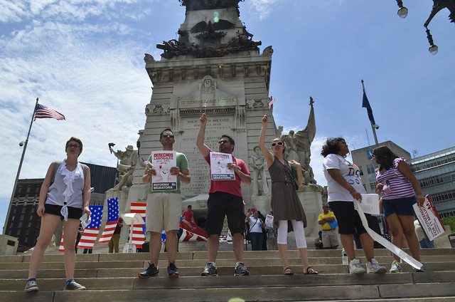 Immigration Reform Rally in Indianapolis