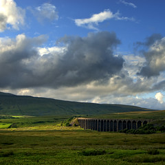 Ribblehead Viaduct (JEFF CARR IMAGES) Tags: england day cloudy viaduct eveninglight yorkshiredales northofengland