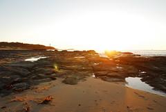 Central Coast Sunrise (kelliejane) Tags: blue orange lighthouse beach sunrise centralcoast toukley soldiersbeach kelliejane