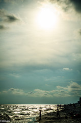 Sinking Sun (Alex Tillman) Tags: summer reflection beach florida cloudy destin settingsun