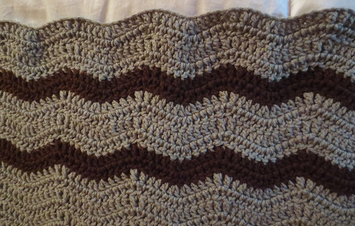 Ravelry Wavy Ripple Lapghan Pattern Pattern By Cindy Recyclecindy