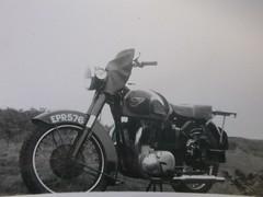 BSA Golden Flash 1952(approx) (Mezonite) Tags: blackandwhite classic golden flash motorbike 1952 bsa originalphotograph