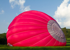 Inflation (Mukumbura) Tags: inflation inflate hotairballoon filling full hot air balloon pink grey field sky wells somerset england ballooning flying flight launch takeoff
