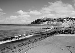 Aberystwyth (Mac McCreery) Tags: sea blackandwhite beach wales seaside pentax aberystwyth kr ceredigion pentax1645mm