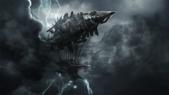 Fantasy-Ship-At-Storm-Wallpaper (vinod_pednekar) Tags: