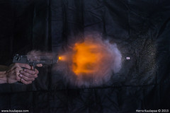 Desert Eagle .50AE - High speed photography 2 (www.kuulapaa.com) Tags: gun weapon pistol bullet highspeedphotography deserteagle 50ae