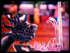 Incense and mythology (HennaLounge) Tags: street water vintage photography monkey boat fishing vespa lotus buddha buddhist country hippy prawns scooter vietnam hoian communism bananas squid kayaking limestone socialist hanoi yin hindu backpacker karst ricepaddy sapa hmong champa calamari halongbay templeofliterature waterbuffalo dragonfruit hilltribe quan marblemountain floatingvillage alleyways peaceandlove aodai reddao eggcoffee taphinvillage uploaded:by=flickrmobile flickriosapp:filter=peacock peacockfilter