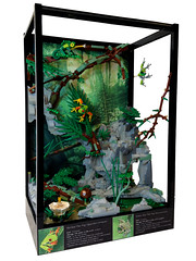 Lego Terrarium (Siercon and Coral) Tags: forest aquarium waterfall tank lego frog jungle chameleon terrarium moc redeyedtreefrog sierconandcoral