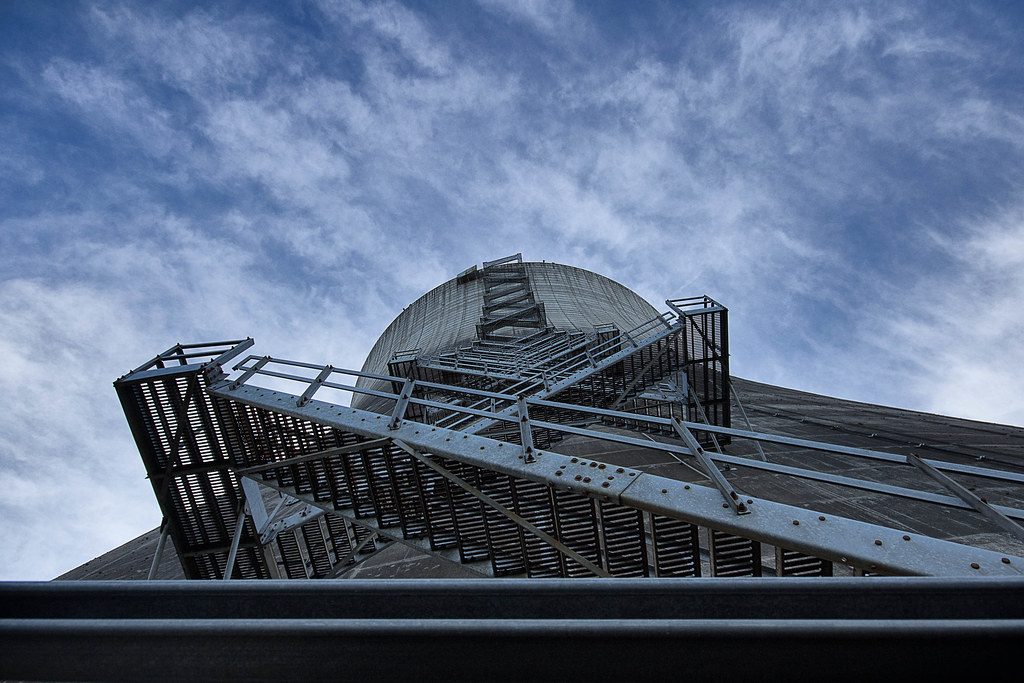 95321d1337e2 The Climb (explored) (QuikSink) Tags  blue sky white abandoned clouds stairs