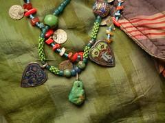 lovely antique turkmen necklaces